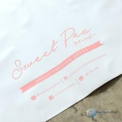 ซองไปรษณีย์พลาสติก สกรีนโลโก้ Sweet Pea