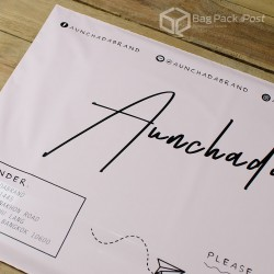 พิมพ์ลายบนซองไปรษณีย์พลาสติก BagPackPost (aunchada)