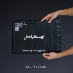 พิมพ์ซอง สกรีนซองไปรษณีย์สีดำ BagPackPost (Jack Russel)