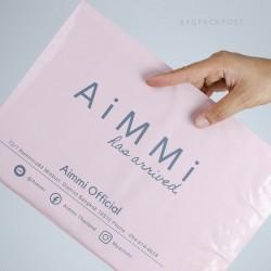 พิมพ์ซอง สกรีนซองไปรษณีย์สีชมพู BagPackPost ลาย AiMMi