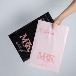 พิมพ์ซอง สกรีนซองไปรษณีย์สีชมพู BagPackPost ลาย MRK Meraki