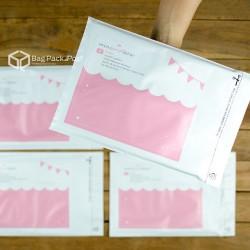พิมพ์ลายบนซองไปรษณีย์พลาสติก BagPackPost (miniandbow)