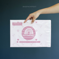 พิมพ์ซอง สกรีนซองไปรษณีย์ BagPackPost (CottonCandy)