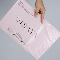 พิมพ์ซอง สกรีนซองไปรษณีย์สีชมพู BagPackPost ลาย Disaya