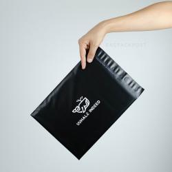 พิมพ์ซอง สกรีนซองไปรษณีย์สีดำ BagPackPost ลาย Whale Indeed