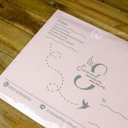 พิมพ์ลายซองไปรษณีย์พลาสติก BagPackPost สีชมพู (seoulmunmun)