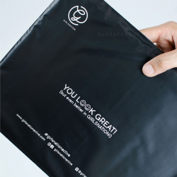 พิมพ์ซอง สกรีนซองไปรษณีย์สีดำ BagPackPost ลาย Girlsnation