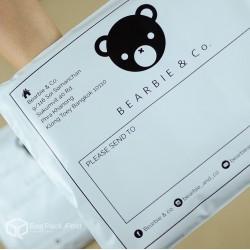 พิมพ์ลายบนซองไปรษณีย์พลาสติก BagPackPost (Beari&Co)