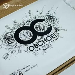 พิมพ์ลาย สกรีนลายซองไปรษณีย์พลาสติก BagPackPost สีขาว (obchoei)