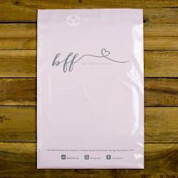พิมพ์ลาย สกรีนลายซองไปรษณีย์พลาสติก BagPackPost สีชมพู (BFF)
