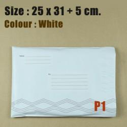 ซองไปรษณีย์ จ่าหน้า สีขาวขนาด 25x31 cm. (P1) ชุดละ 50 ใบ